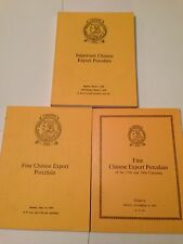 3 CHRISTIE'S CATALOGS CHINESE EXPORT PORCELAIN  1975 & 1976