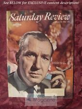 SATURDAY REVIEW March 26 1966 CORNELIUS RYAN ROLLO MAY HENRY C. WOLFE