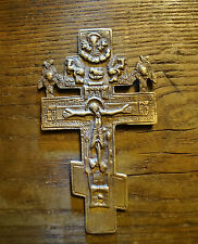 Old style 18th-19th century  Russian Blessing Cross in Brass - replica