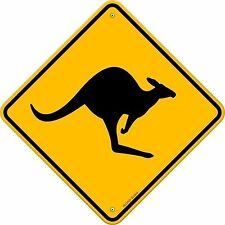 Kangaroo Oz Australia funny door road Sign Sticker Decal Graphic Vinyl Label