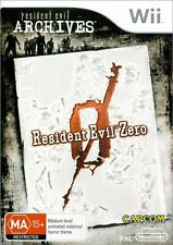 Resident Evil Zero Archives Prequel To Video Game Series For Nintendo Wii PAL