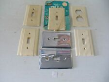 VINTAGE LOT ELECTRIC ELECTRICAL WIRING BAKELITE SWITCH WALL PLATE COVER NEW USED