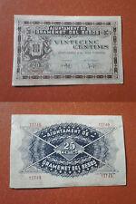 BILLETE LOCAL 25 CTS AJUNTAMENT DE GRAMENET DEL BESOS BARCELONA 1937