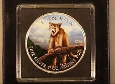2012 Canada 1oz.Silver Colored UNC Cougar w/Box&COA   ** FREE U.S. SHIPPING **