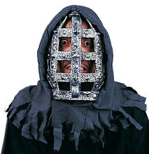 Iron Head Cage Prisoner Hooded Mask with Shroud