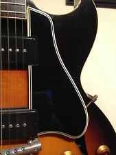 1958 ES-225 Pickguard 5-Ply Blk 60 Deg Bevel for Gibson Guitar Project W/Mounts