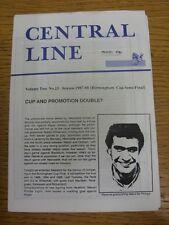 07/03/1988 Birmingham Senior Cup Semi-Final: West Bromwich Albion v Redditch Uni