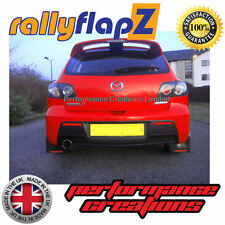 Rally Mudflaps MAZDA 3 MPS (07-09) Mk1 Mud Flaps in Black Logo Red 4mm PVC