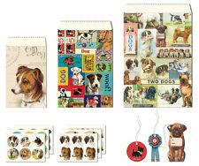 Cavallini - Petite Paketset - Vintage Hunde - 12 Taschen, Etiketten & Aufkleber