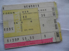 JIMI HENDRIX 1969 Original CONCERT Ticket STUB - Los Angeles Forum