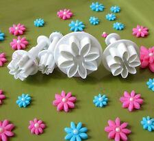 4Pcs Cake Plunger Decorating Daisy Flower Fondant Sugarcraft Icing Cutter CAA
