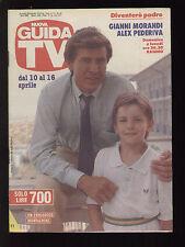 GUIDA TV MONDADORI 14/1988 GIANNI MORANDI ALEX PEDERIVA PROGRAMMI TV LOCALI