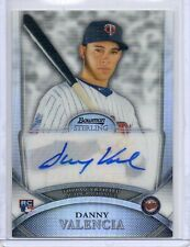2010 Bowman Sterling Silver Danny Valencia Autographed RC 050/199 Auto