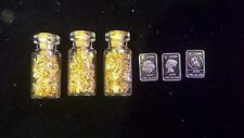 #7.  3 1gram silver bar and 3of  my glass jars of 24kt gold leaf flake! ! $! $