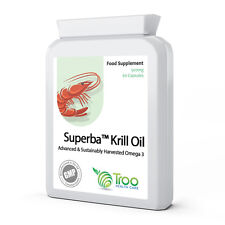 Superba Pure Antarctic KRILL OIL Extract 500mg 60 Capsules - Cold Pressed
