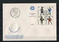 Schweiz Block 22 auf Brief Intern. Briefmarkenausstellung 1974 Basel