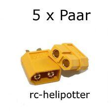 5 Paar  XT60 Stecker für Turnigy Zippy Akkus 65A