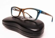 Ray-Ban RB 5255 5490 Eyeglasses Optical Frames Glasses Teal / Brown 51mm