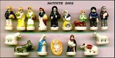 RARO Set PRESEPE 16 Mini FIGURE Porcellana FRANCIA 2002 Nativita CRIB NATIVITY !