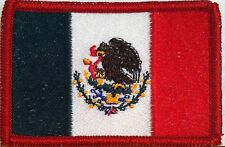 MEXICO  Flag   Iron On Patch  MEXICAN MC Biker  Emblem Red Border