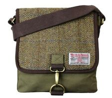 Authentic Harris Tweed Crossover Messenger Bag - Traditional Green HC007