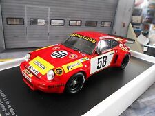 Porsche 911 carrera rsr 3.0 Le Mans ensuspens Loos 1975 #58 spark resin NEUF NEW 1:18