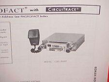 1978 BOMAN CB/AM-FM/FM STEREO RADIO SERVICE SHOP MANUAL MODEL CBR-9600