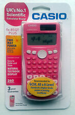 LOVELY PINK SCIENTIFIC CALCULATOR: CASIO FX-85GT PLUS DUAL-POWERED NEW/SEALED