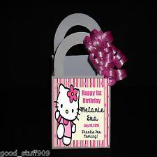 HELLO KITTY PERSONALIZED 12 FAVOR BOXES RIBBON INCLUDED BIRTHDAY PARTY