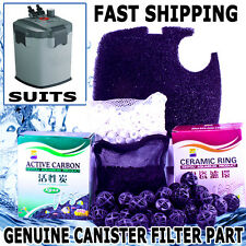 1800LPH Aqua Aquarium Fish Tank External Canister Water Filter Sponge MEDIA KIT