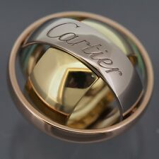 CARTIER 18K TRI-COLOR GOLD TRINITY MUST ESSENCE RING 2002 LIMITED EDITION 48