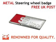 AUDI S LINE STEERING WHEEL BADGE SELF ADHESIVE A1 A3 A4 A6 Q7 METAL FREE POSTAGE