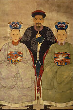 500095 Mandarin With His Two Wives Unknown Artist A4 Photo Print
