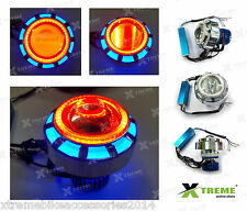 18w Double Angel Ring Led Fan Projector R/B For Royal Enfield Twin