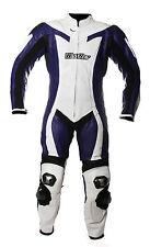 Mono de moto PIEL Protecciones  S 48 1 PIEZA azul