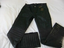 RARE!! SOLD OUT!! ZADIG & VOLTAIRE DELUXE ANGIE BLACK LEATHER TROUSERS SIZE M