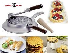 Nordicware NORWEGIAN KRUMKAKE IRON Cone Shaped PIZZELLE Italian Waffle COOKIES