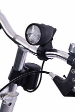SUPER BRIGHT RECHARGEABLE 3 WATT LED FRONT BIKE HEAD LIGHT 20 LUX BLACK RRP £69