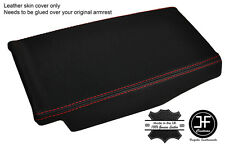 RED STITCH REAR CENTRE CONSOLE TRIM LEATHER COVER FITS MERCEDES SL R230 02-07