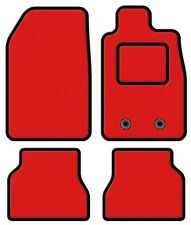 TOYOTA AVENSIS 2011 ONWARDS TAILORED RED CAR MATS WITH BLACK TRIM