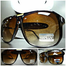 Mens Women CLASSIC RETRO 80's VINTAGE AVIATOR STYLE SUNGLASSES SHADES Honey Lens