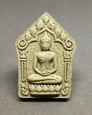 Thai Buddha Amulet Khun Paen LP Koon,LP Tim 2 Silver Takrud for charm and rich