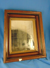 Mirror rectangle wood layered frame vtg art grouping wall hang decoration wood