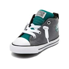 New Converse All Star Street Mid Slip-on Sneakers Toddler Boy's Size 8 Gray/Teal