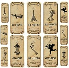 Vintage inspired12  Paris apothecary bottle labels stickers scrapbooking glossy
