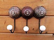 Encantador 1,2,3 Vintage Estilo Triple Gancho Para Ropa