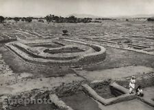 1928 Original INDIA Taxila Ruins Landscape Architecture Photo Art By HURLIMANN