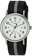 Timex Men's Weekender Quartz Silver Tone Brass Reversible Nylon Watch TW2P72200