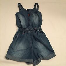 Blue denim playsuit dungarees babygrow outfit  Baby girls clothes 18-24 Months