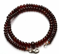 """Natural Gem Hessonite Super Quality 4-9MM Smooth Rondelle Beads Necklace 16.5"""""""